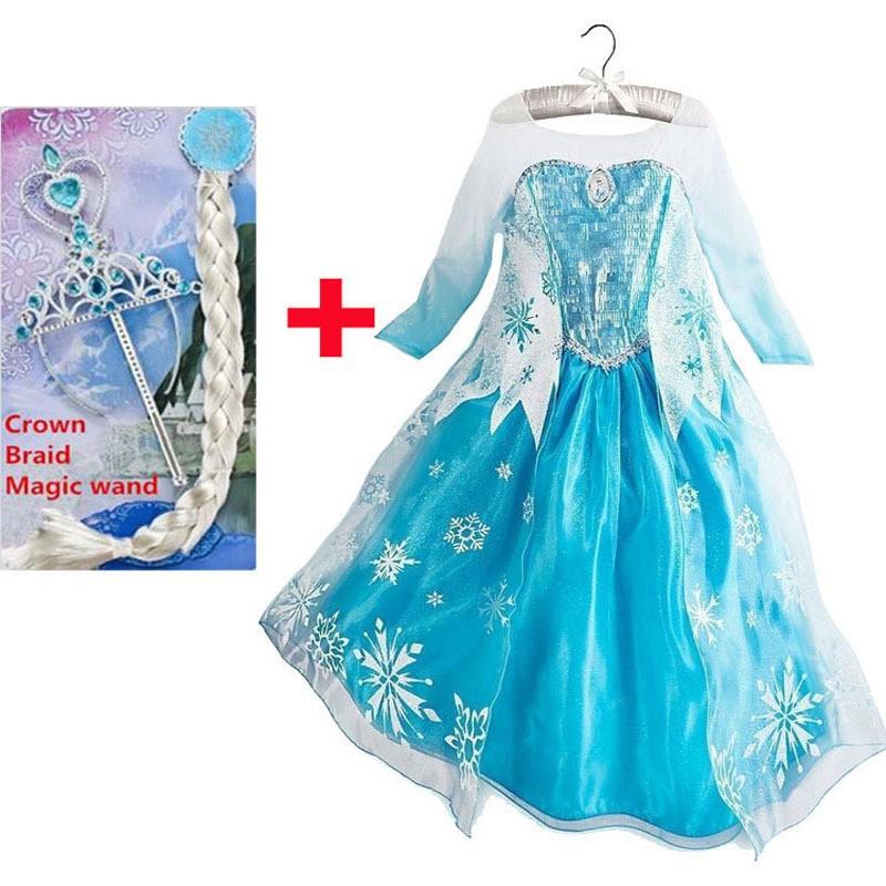 Princesės Elzos suknelė su karūna